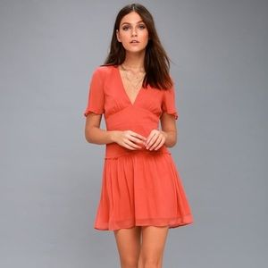 Amuse society orange dress